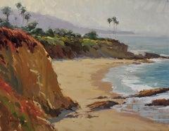"""""""View From Divers Cove"""" Laguna Beach California Seascape Plein Air Painting"""