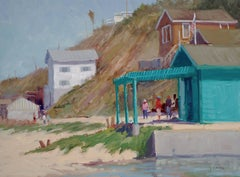 """""""Waiting For Luch"""" California Plein Air Painting by Jacobus Baas"""