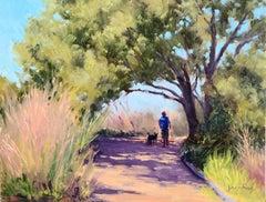 """Walking The Dog"" Southern California Coastal Scene"