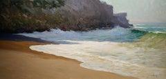 """West Street Beach"" California Plein Air Painting by Jacobus Baas"