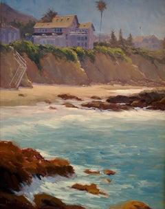"""Woods Cove"" California Plein Air Painting by Jacobus Baas"