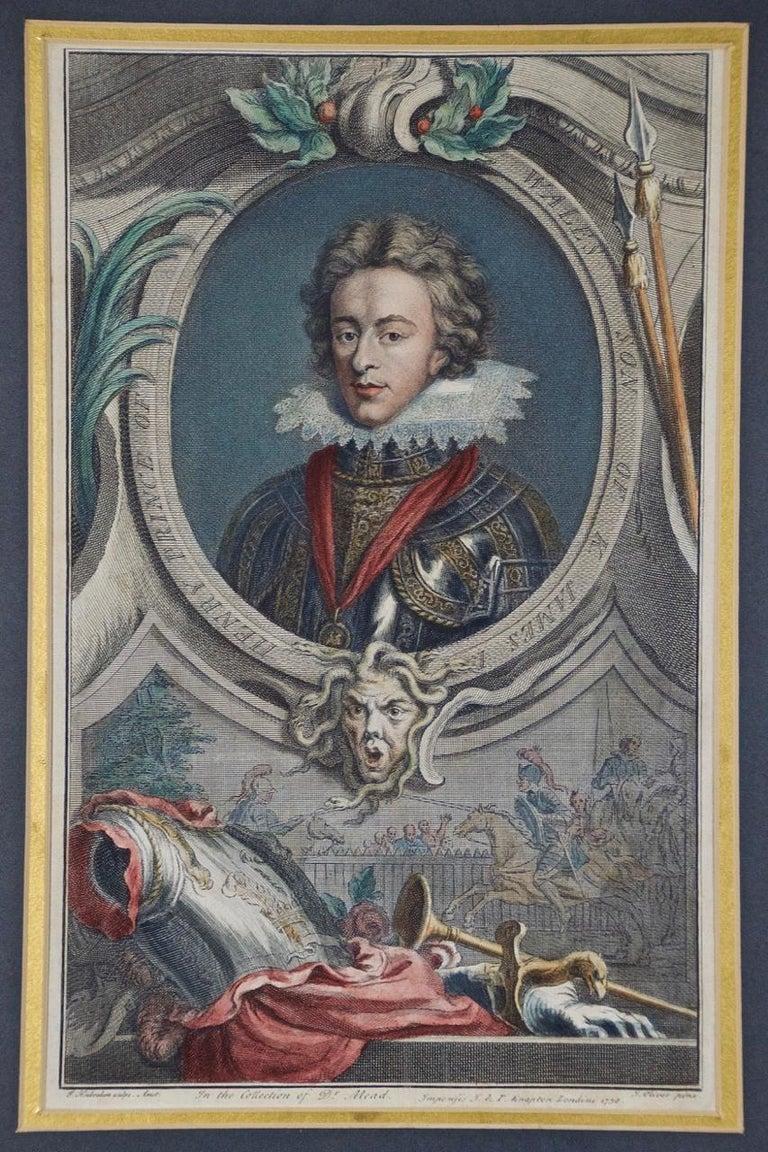 Hand-Colored Houbraken Portrait of