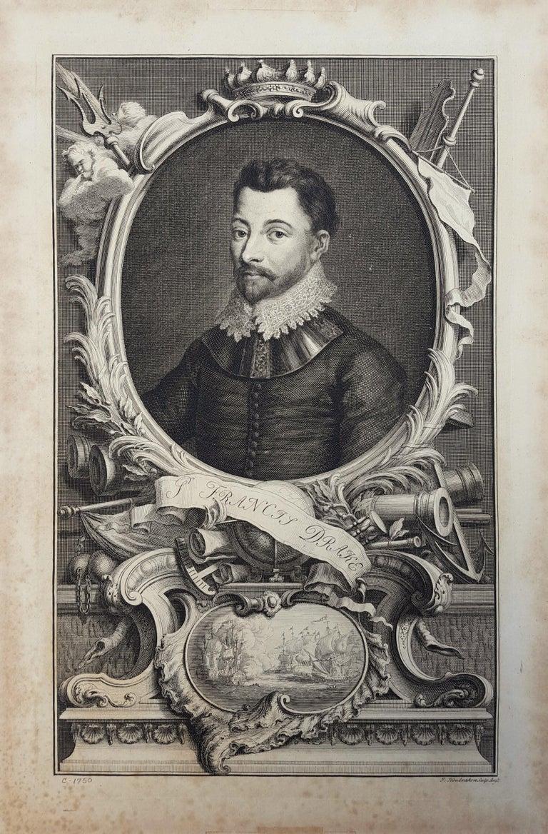 Sir Francis Drake - Print by Jacobus Houbraken