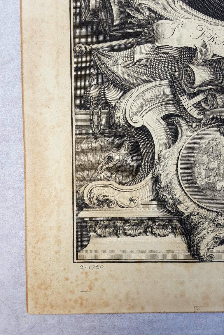 Sir Francis Drake - Old Masters Print by Jacobus Houbraken