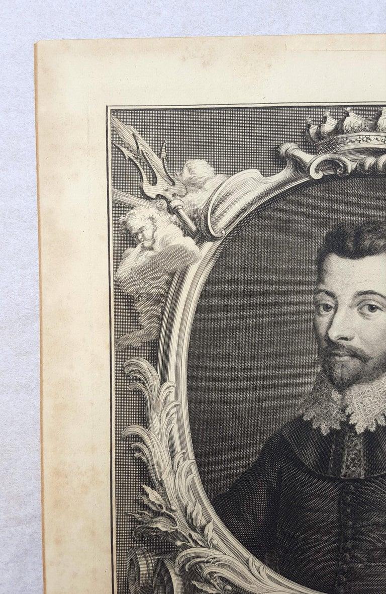 Sir Francis Drake - Gray Portrait Print by Jacobus Houbraken
