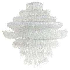 """Jacopo Foggini Contemporary Model """"Sneeze A"""" Italian White Suspension Lamp"""