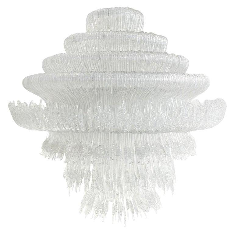 """Jacopo Foggini Contemporary Model """"Sneeze A"""" Italian White Suspension Lamp For Sale"""
