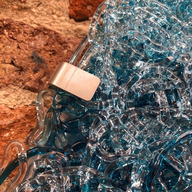Jacopo Foggini Contemporary Modern Circular Blue Polycarbonate Italian Wall Ligh For Sale 7