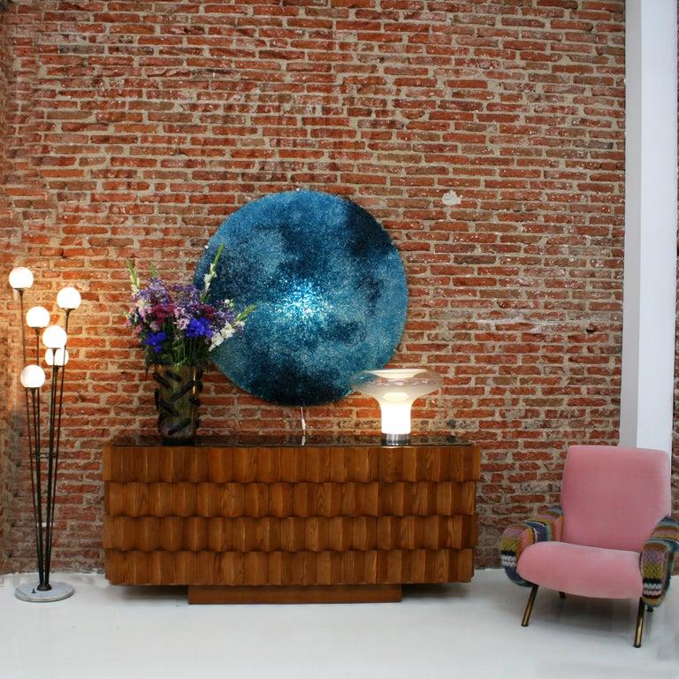 Hand-Crafted Jacopo Foggini Contemporary Modern Circular Blue Polycarbonate Italian Wall Ligh For Sale