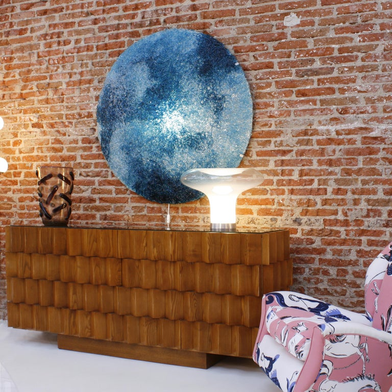 Jacopo Foggini Contemporary Modern Circular Blue Polycarbonate Italian Wall Ligh In Excellent Condition For Sale In Madrid, ES