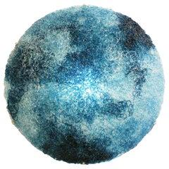 Jacopo Foggini Contemporary Modern Circular Blue Polycarbonate Italian Wall Ligh