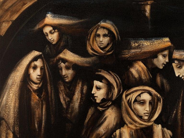 Donne al Tempio, 2014 - Painting by Jacopo SCASSELLATI