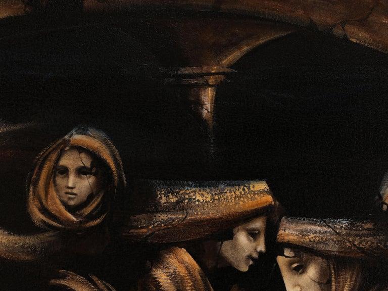 Donne al Tempio, 2014 - Black Figurative Painting by Jacopo SCASSELLATI
