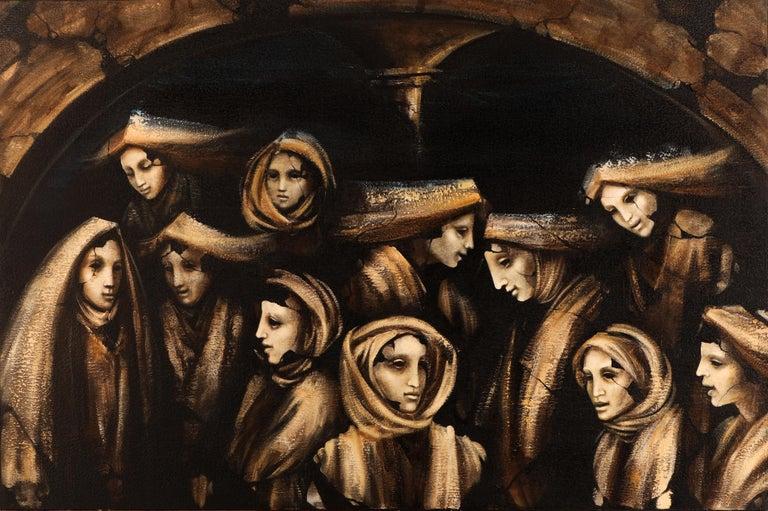 Jacopo SCASSELLATI Figurative Painting - Donne al Tempio, 2014