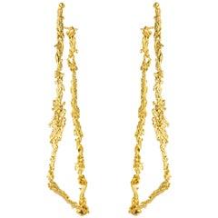 "Jacqueline Barbosa 18 Karat Gold ""S"" Earrings"