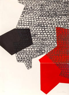 Sans Titre, Geometric Abstract Etching by Jacquline DeButler