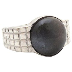 Jacqueline Rose Lattice Black Moonstone Ring