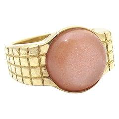 Jacqueline Rose Lattice Peach Moonstone Ring