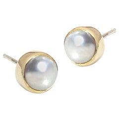 Jacqueline Rose Vine Pearl Stud Earrings