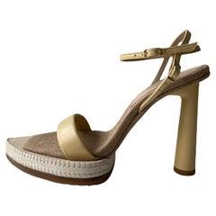 Jacquemus Beige Leather Les Novio 95 Sandals sz 36 rt. $750