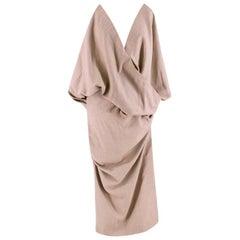 Jacquemus Beige Sao draped wool dress - Size US 0-2