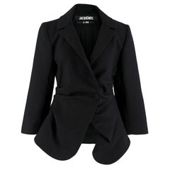 Jacquemus Black Saad Wool Blazer M 48