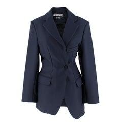 Jacquemus Le Souk Navy Wool-blend Blazer Size 34 / US 0-2