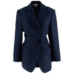 "Jacquemus Navy Wool blend ""Le Souk"" Blazer Jacket - Size US2"