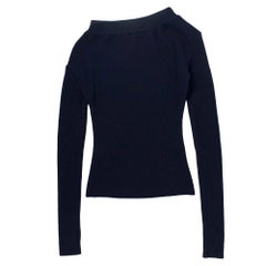 Jacquemus One-Shoulder Ribbed Wool Top SIZE M