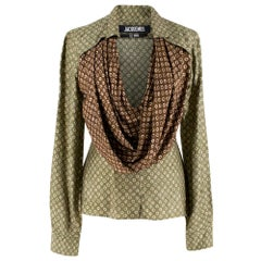 Jacquemus Saabi cowl-neck satin blouse S