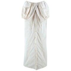 Jacquemus White La Jupe Cueillette Cotton Maxi Skirt 36
