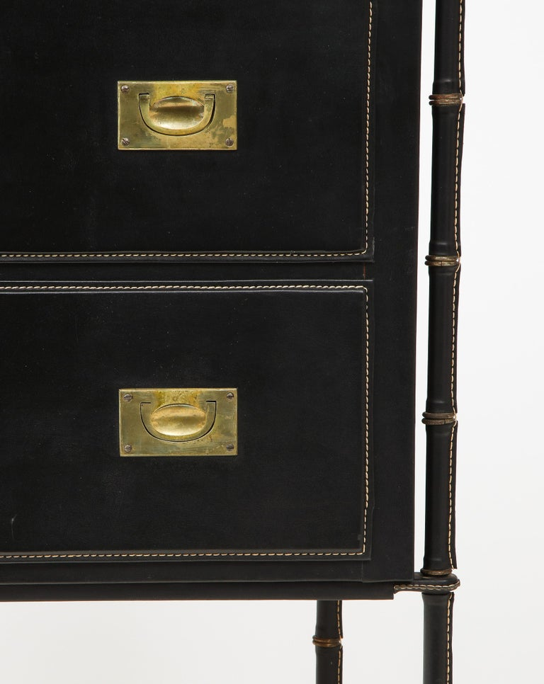 Jacques Adnet Rare Commode or Chest of Drawers For Sale 3