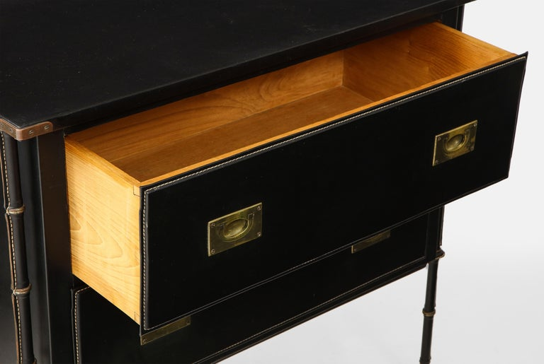 Jacques Adnet Rare Commode or Chest of Drawers For Sale 6