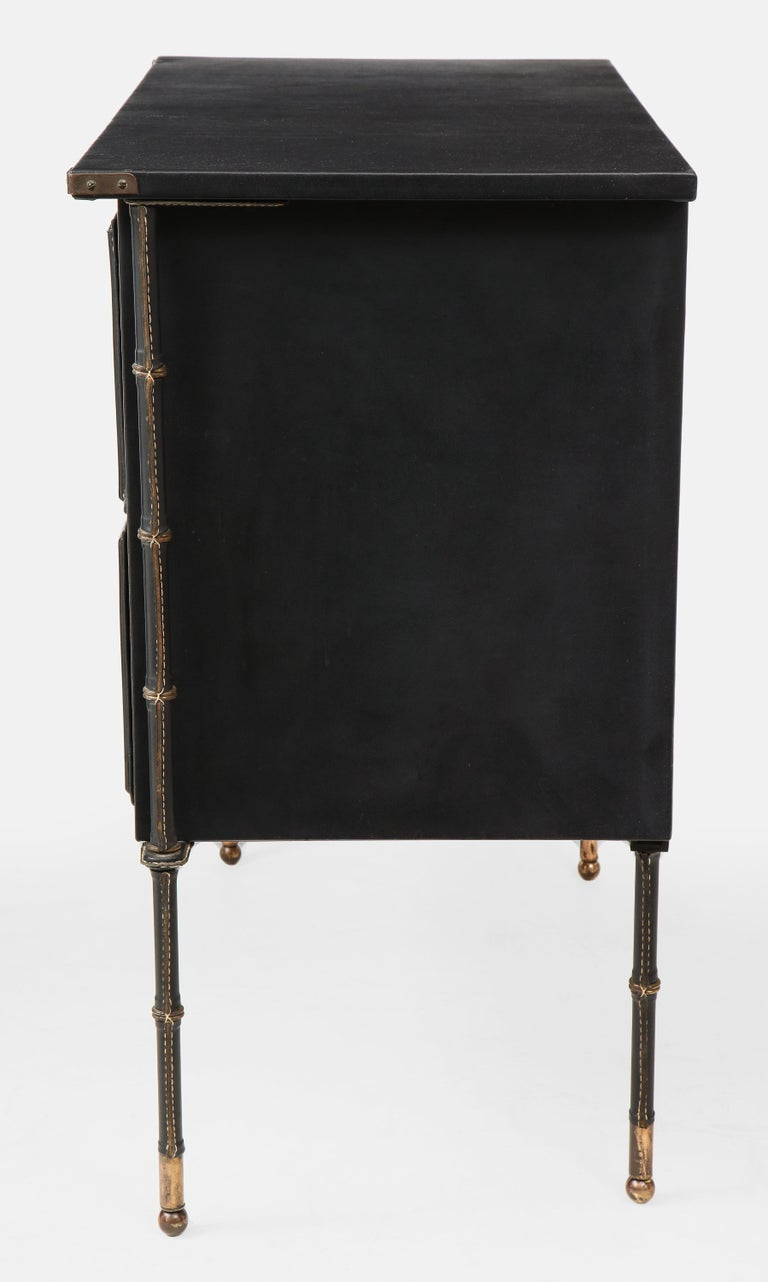 French Jacques Adnet Rare Commode or Chest of Drawers For Sale