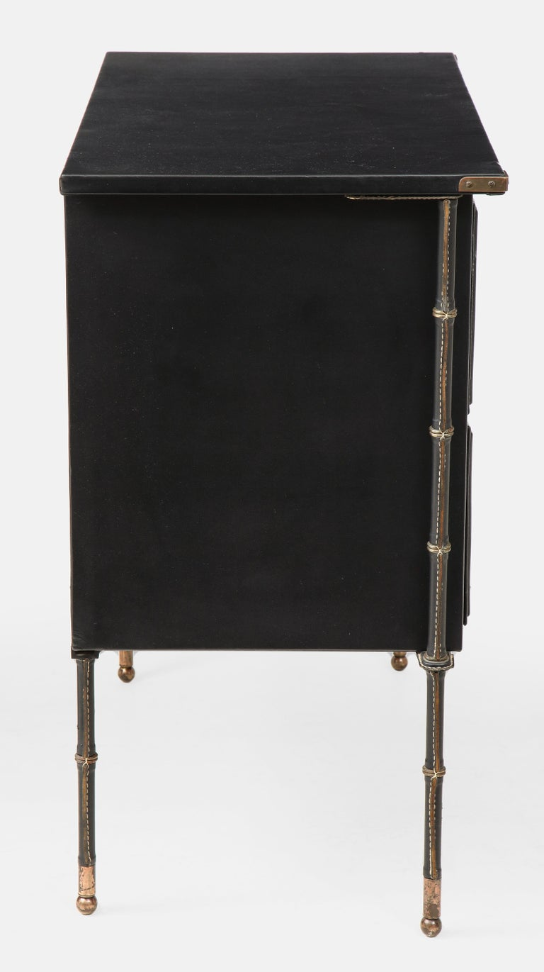 Mid-20th Century Jacques Adnet Rare Commode or Chest of Drawers For Sale