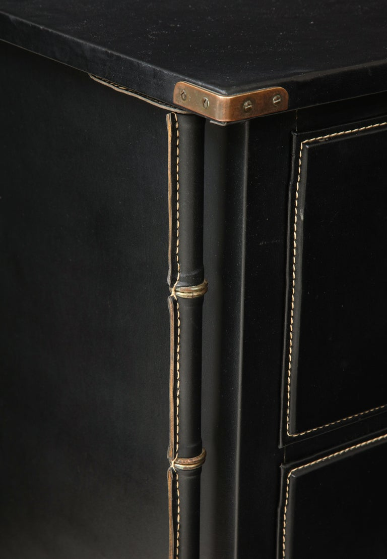 Jacques Adnet Rare Commode or Chest of Drawers For Sale 1