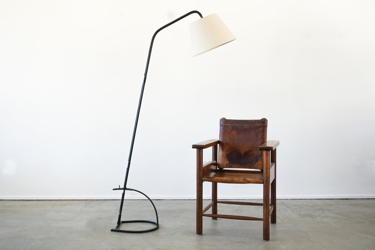 French Jacques Adnet Adjustable Floor Lamp For Sale