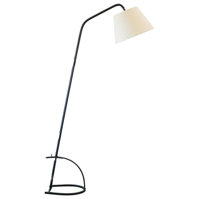 Jacques Adnet Adjustable Floor Lamp For Sale