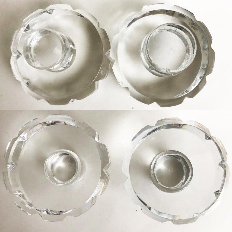 Jacques Adnet and Baccarat for Hermes Paris Decanter Set 5pc Barware 60s Vintage For Sale 6