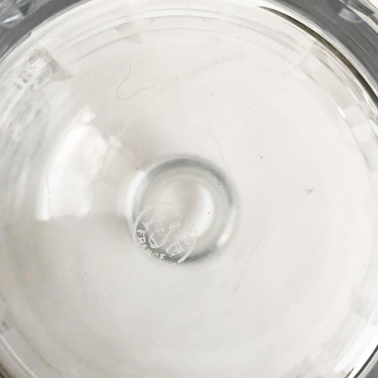 Jacques Adnet and Baccarat for Hermes Paris Decanter Set 5pc Barware 60s Vintage For Sale 9