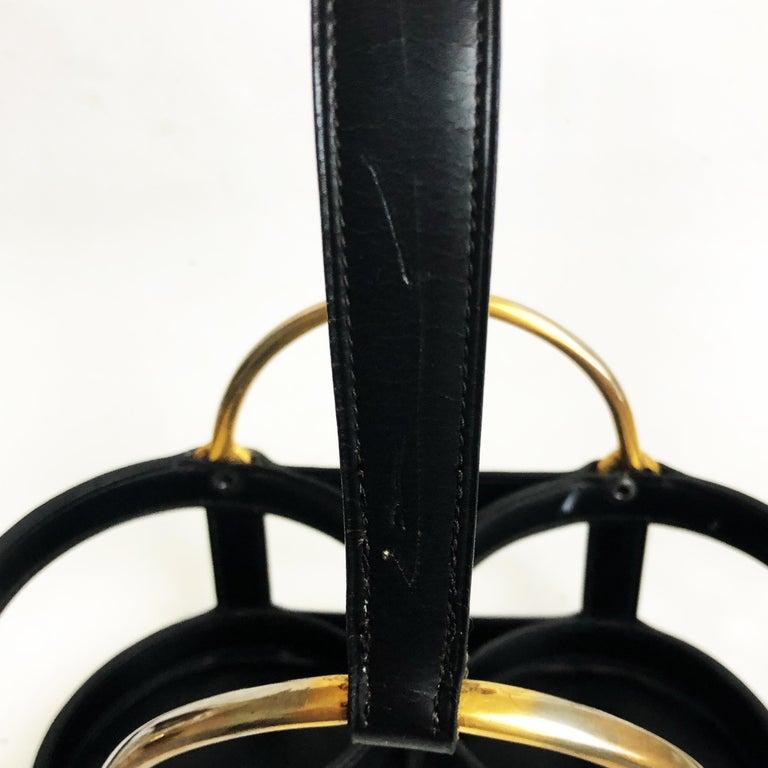 Jacques Adnet and Baccarat for Hermes Paris Decanter Set 5pc Barware 60s Vintage For Sale 10