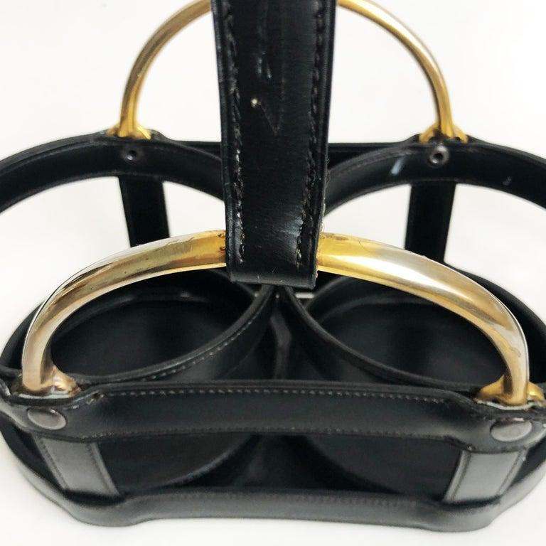 Jacques Adnet and Baccarat for Hermes Paris Decanter Set 5pc Barware 60s Vintage For Sale 12