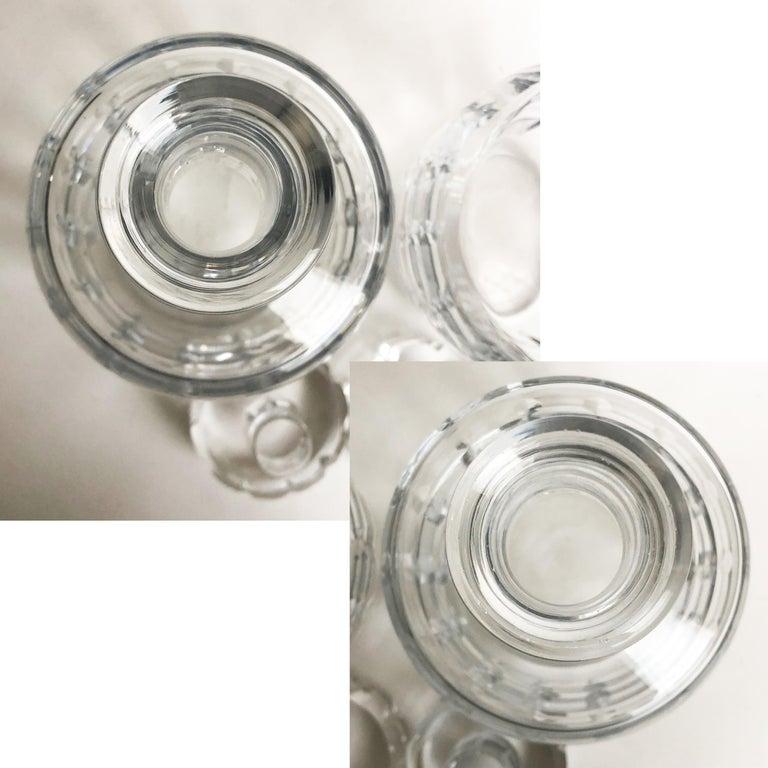Jacques Adnet and Baccarat for Hermes Paris Decanter Set 5pc Barware 60s Vintage For Sale 5