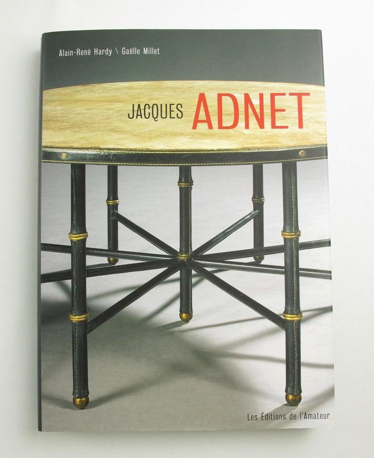 Jacques Adnet Art Deco Modernist Chrome Desk Accessory Letter Holder For Sale 1