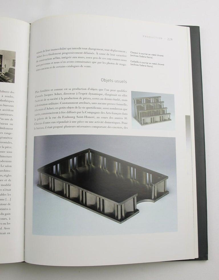 Jacques Adnet Art Deco Modernist Chrome Desk Accessory Letter Holder For Sale 2
