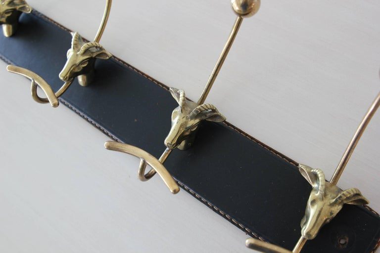 Jacques Adnet Attributed Coat Rack In Good Condition For Sale In Los Angeles, CA