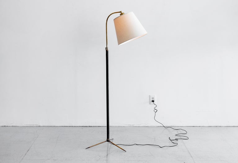 French Jacques Adnet Attributed Floor Lamp For Sale