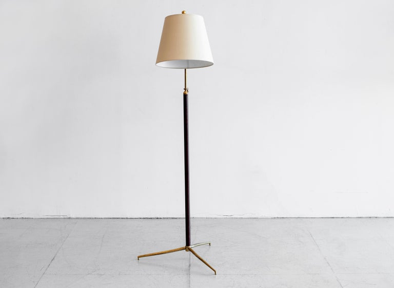 French Jacques Adnet Attributed Floor Lamp