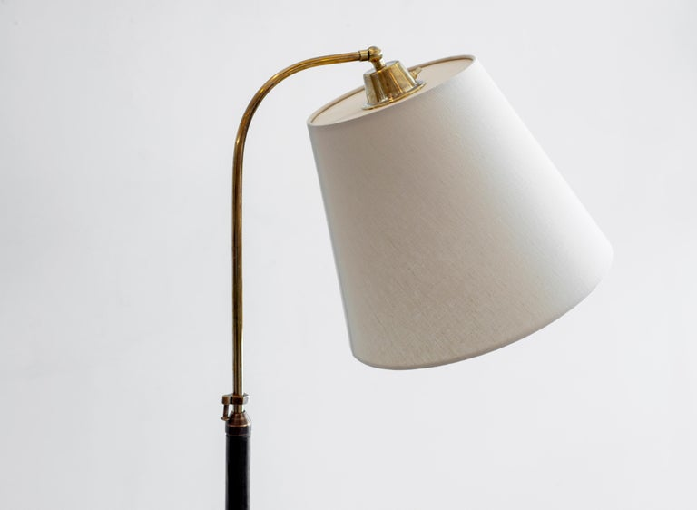 Jacques Adnet Attributed Floor Lamp In Good Condition For Sale In Los Angeles, CA