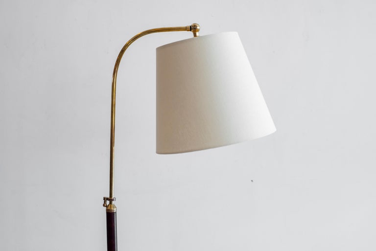 Jacques Adnet Attributed Floor Lamp In Good Condition In Los Angeles, CA
